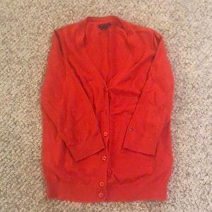 Tommy Hilfiger orange 3/4 sleeve cardigan size lrg